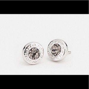 Coach Open Circle Stone Strand Earrings NWT